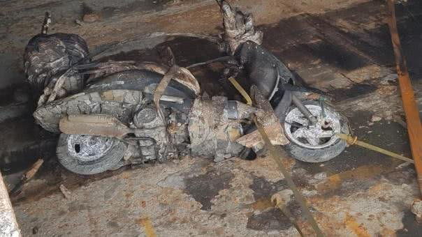 destroyed motorbike from Sewol ferry