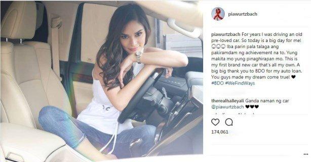 screenshot of Pia's Instagram post
