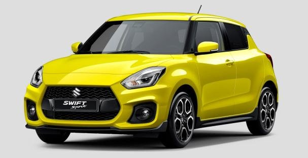 angular front of the Suzuki Swift Sport