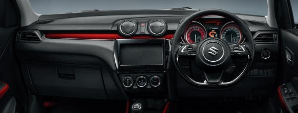 dashboard of the Suzuki Swift Sport