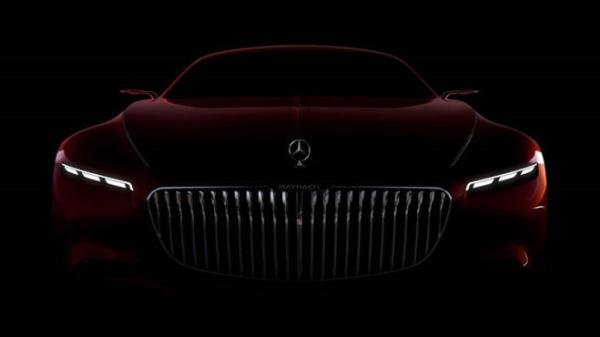 front view of the Mercedes-Maybach S600 Concept
