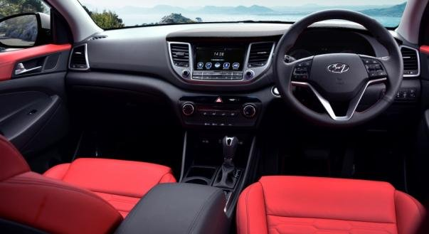 cabin of the Hyundai Tucson Diesel 2.0L CRDI