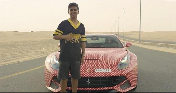 Rashed Belhasa and his Ferrari