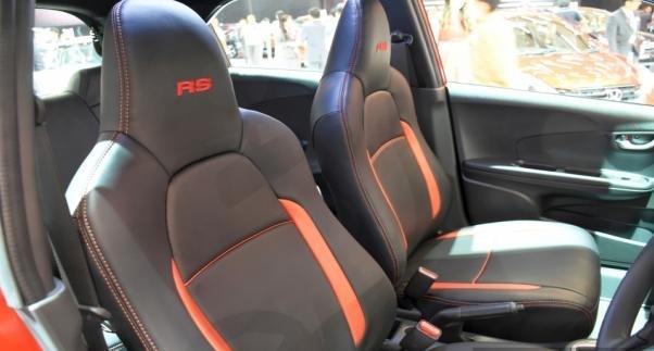 Interior of the Honda Brio RS CVT Special Edition