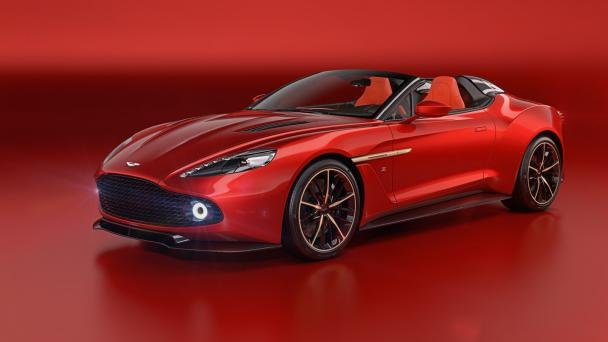 angular front of the Aston Martin Vanquish Zagato Speedster