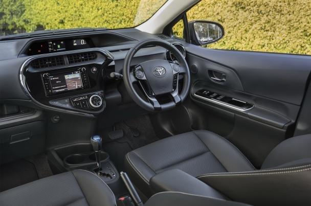 interior of the 2018 Toyota Prius C