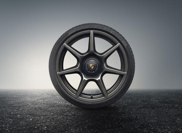 a Porsche's carbon fiber wheel