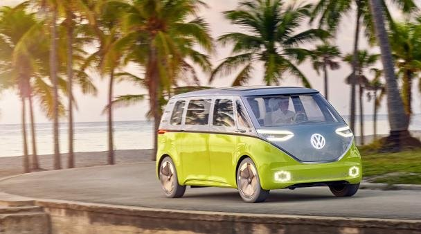 angular front of the VW I.D. Buzz