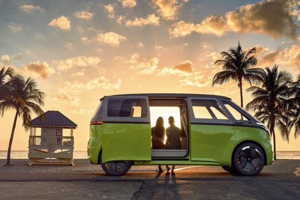 Side view of the VW I.D. Buzz