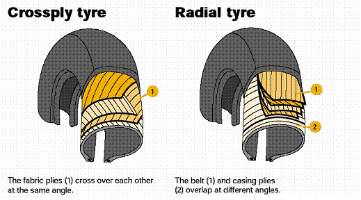 radial and non-radial tires