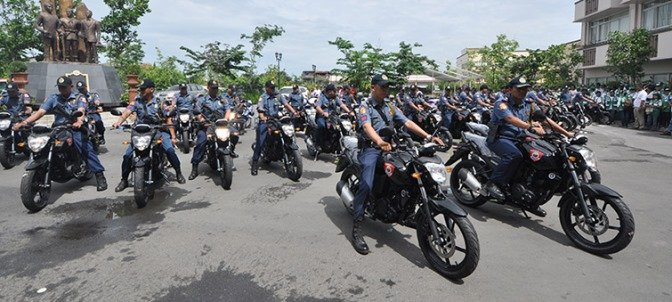 the HPG officiers riding police motorcycles