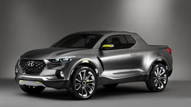 angular front of the Hyundai Santa Cruz concept