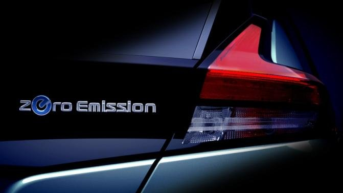 tail light of the 2018 Nissan Leaf