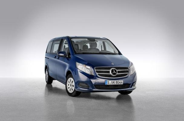 angular front of the Mercedes-Benz V-Class Limited Edition