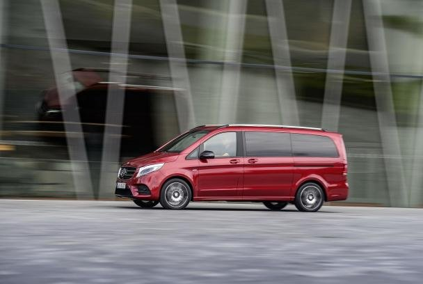 Side view of the Mercedes-Benz V-Class RISE