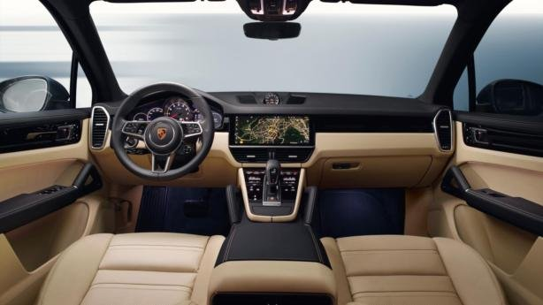 interior of the 2018 Porsche Cayenne