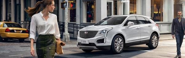 2017 Cadillac XT5 Hybrid on the road
