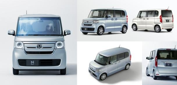 Exterior of the Honda N-Box from various angles