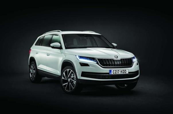 angular front of the Skoda Kodiaq