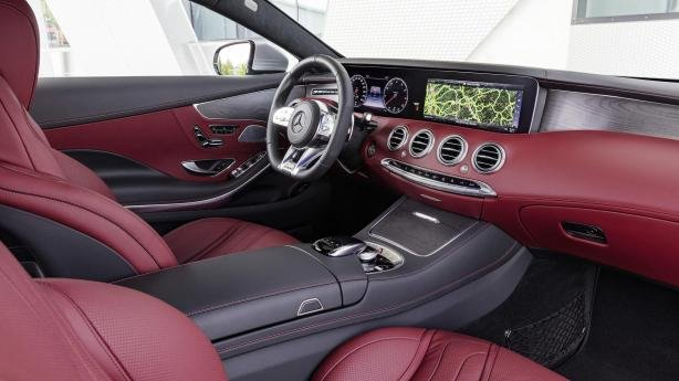 interior of the 2018 Mercedes-Benz S560 Coupe