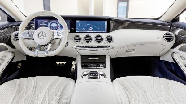Interior of the 2018 Mercedes-AMG S63 Coupe