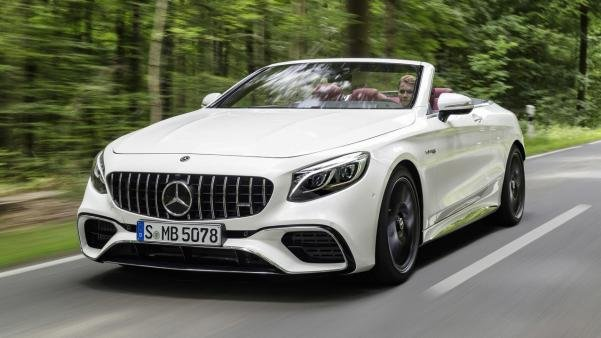 angular front of the 2018 Mercedes-AMG S63 Cabriolet