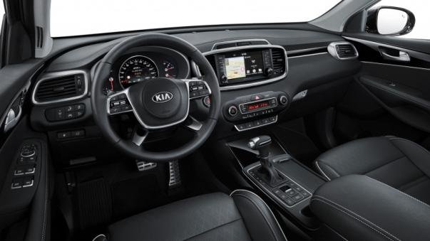interior of the Kia Sorento facelift