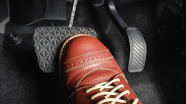Using a brake pedal