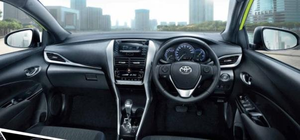 facelited Toyota Yaris 2018 dashboard