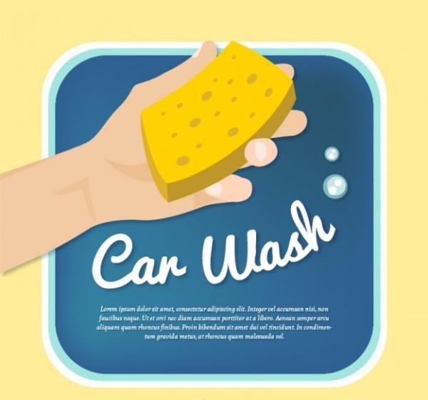 free car wash poster