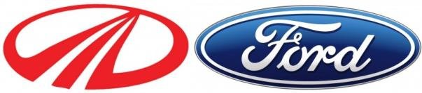Ford and Mahindra emblems