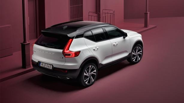 angular rear of the Volvo XC40 2018