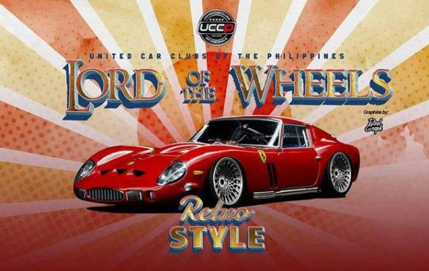 Banner of the Lord of the Wheels Retro Style car show