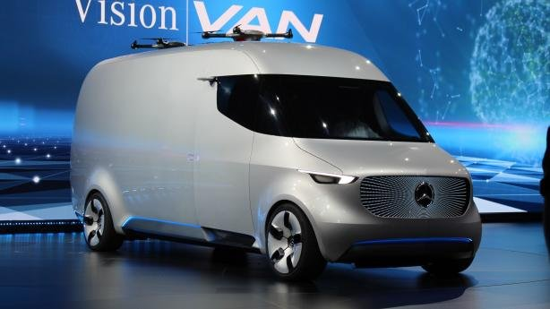 angular front of the Mercedes-Benz Vision Van Concept