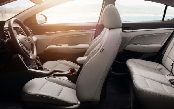 The Hyundai Elantra Limited Edition 2.0L cabin