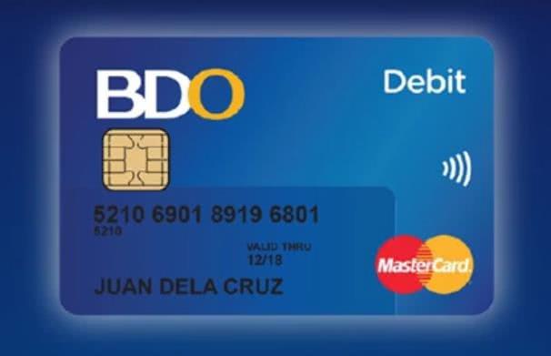 BDO Unibank Inc's EMV-chip debit cards