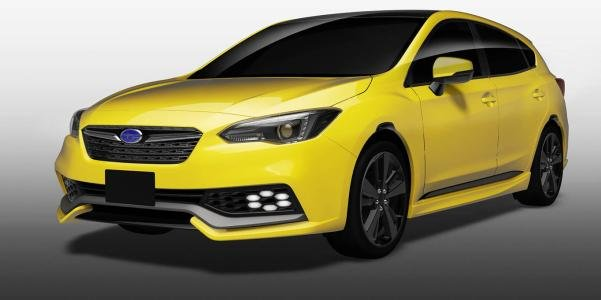 angular front of the Subaru Impreza Future Sport concept