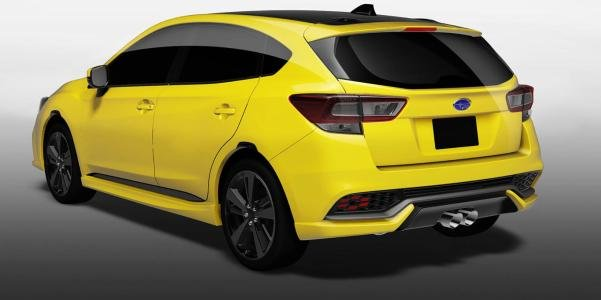 angular rear of the Subaru Impreza Future Sport concept