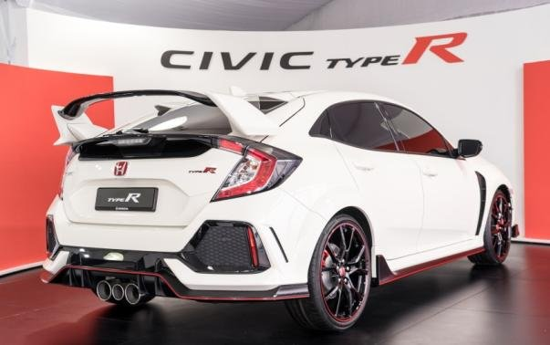 angular rear of the FK8 Honda Civic Type R 2017