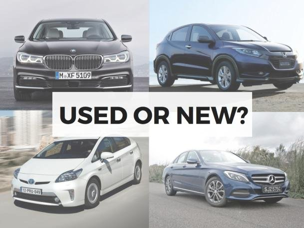 Used or new cars?