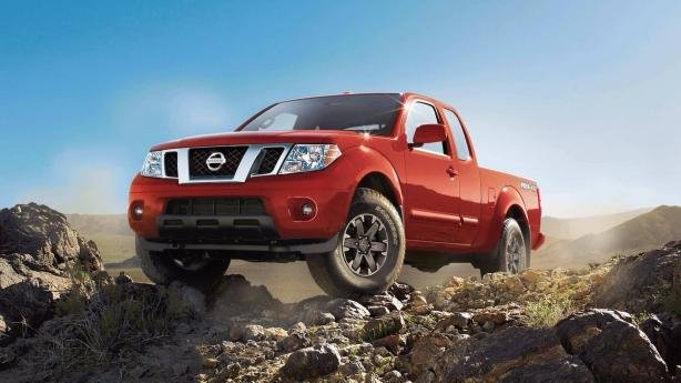angular front of the Nissan Frontier 2018
