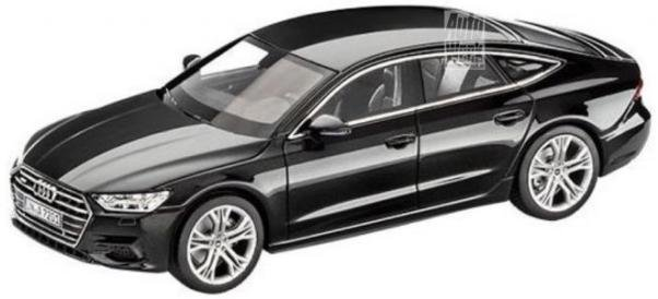 Black Audi A7 Sportback 2018 scale model
