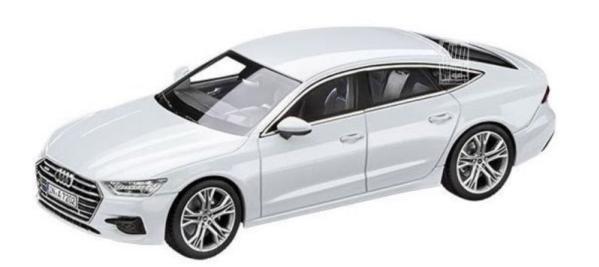 White Audi A7 Sportback 2018 scale model