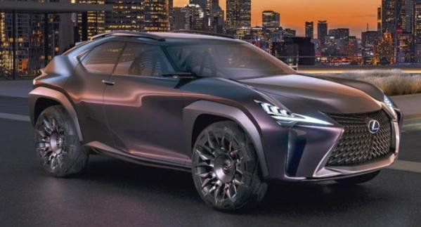 angular front of the Lexus UX Concept