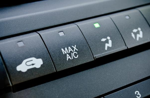 air conditioner button in a car