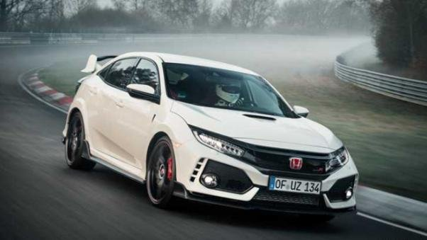Honda Civic Type R on the road