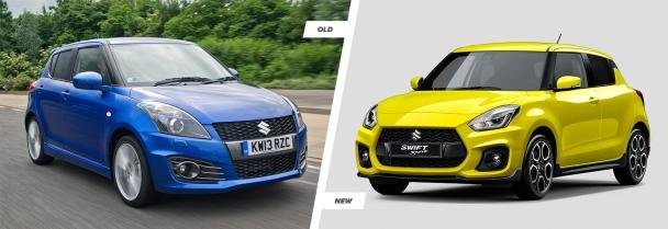 Old Suzuki Swift Sport vs. All-new Suzuki Swift Sport