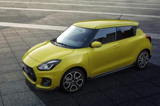 Suzuki Swift Sport 2018 view from above