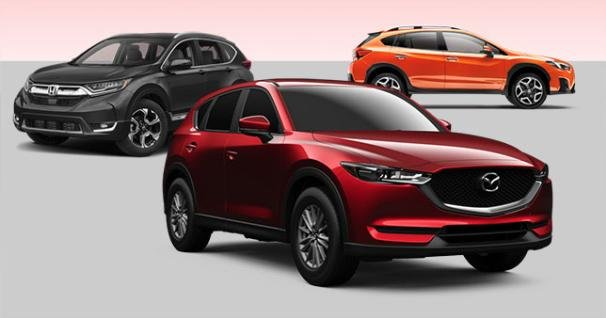 The all-new Subaru XV, Honda CR-V and Mazda CX-5