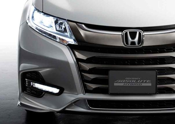 front fascia of the Honda Odyssey 2018